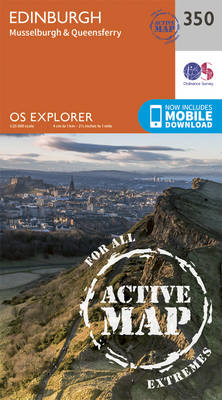 Edinburgh - OS Explorer Active Map 350 (Sheet map, folded)