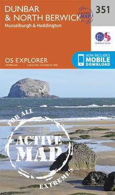Dunbar and North Berwick - OS Explorer Active Map 351 (Sheet map, folded)
