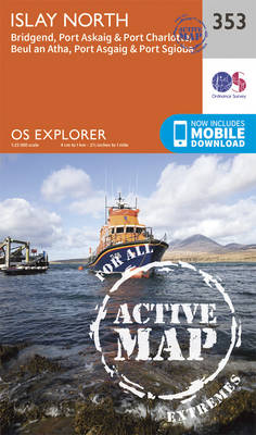Islay North - OS Explorer Active Map 353 (Sheet map, folded)
