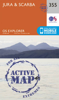 Jura and Scarba - OS Explorer Active Map 355 (Sheet map, folded)