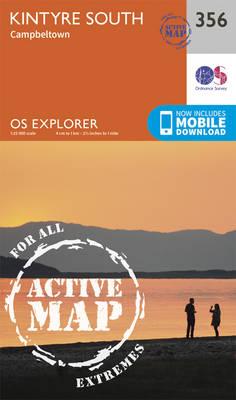 Kintyre South - OS Explorer Active Map 356 (Sheet map, folded)