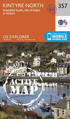 Kintyre North - OS Explorer Active Map 357 (Sheet map, folded)