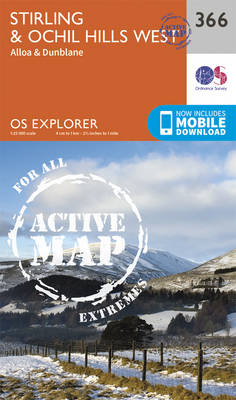 Stirling and Ochil Hills West - OS Explorer Active Map 366 (Sheet map, folded)