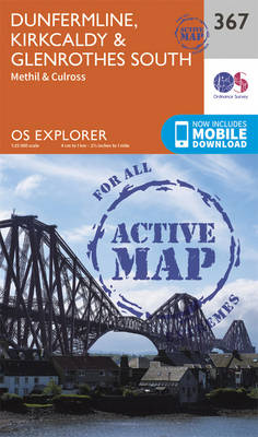 Dunfermline, Kirkcaldy and Glenrothes South - OS Explorer Active Map 367 (Sheet map, folded)