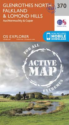 Glenrothes North, Falkland and Lomond Hills - OS Explorer Active Map 370 (Sheet map, folded)