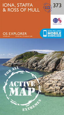 Iona, Staffa and Ross of Mull - OS Explorer Active Map 373 (Sheet map, folded)
