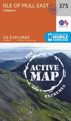 Isle of Mull East - OS Explorer Active Map 375 (Sheet map, folded)