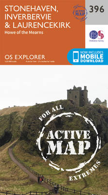 Stonehaven, Inverbervie and Laurencekirk - OS Explorer Active Map 396 (Sheet map, folded)