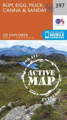 Rum, Eigg, Muck, Canna and Sanday - OS Explorer Active Map 397 (Sheet map, folded)