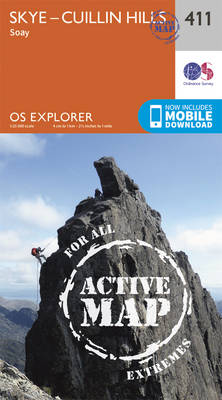 Skye - Cuillin Hills - Soay - OS Explorer Active Map 411 (Sheet map, folded)