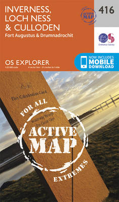 Inverness, Loch Ness and Culloden - OS Explorer Active Map 416 (Sheet map, folded)