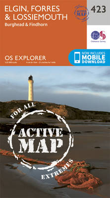 Elgin, Forres and Lossiemouth - OS Explorer Active Map 423 (Sheet map, folded)