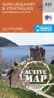 Glen Urquhart and Strathglass - OS Explorer Active Map 431 (Sheet map, folded)