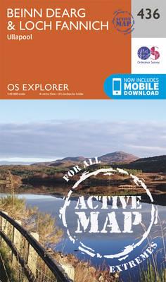 Beinn Dearg and Loch Fannich - OS Explorer Active Map 436 (Sheet map, folded)