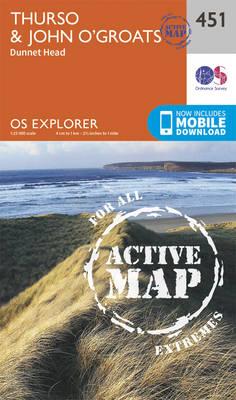 Thurso and John O'Groats - OS Explorer Active Map 451 (Sheet map, folded)
