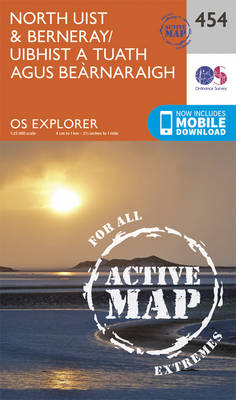 North Uist and Berneray/Uibhist a Tuath Agus Bearnaraigh - OS Explorer Active Map 454 (Sheet map, folded)