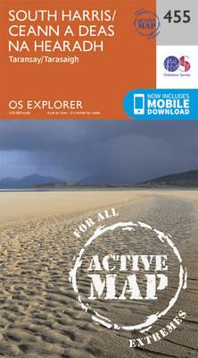 South Harris/Ceann a Deas Na Hearadh - OS Explorer Active Map 455 (Sheet map, folded)