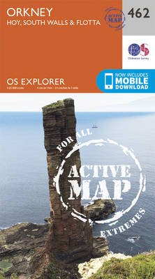 Orkney - Hoy, South Walls and Flotta - OS Explorer Active Map 462 (Sheet map, folded)