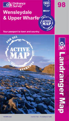 Wensleydale and Upper Wharfedale - OS Landranger Active Map Sheet 98 (Sheet map, folded)