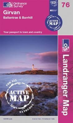 Girvan, Ballantrae & Barrhill - OS Landranger Active Map 76 (Sheet map, folded)