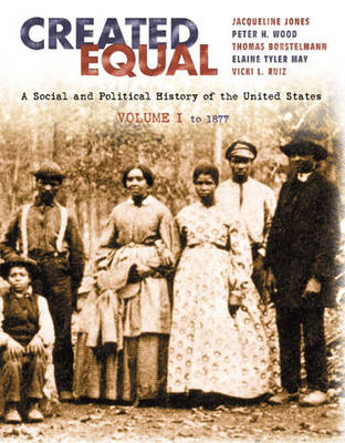 Created Equal: A Social and Political History fo the United States, Volume I: to 1877 (Chapters 1-15) (Paperback)