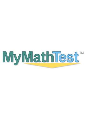 Cover MyMathTest Online Placement and Readiness Student Access Code Card