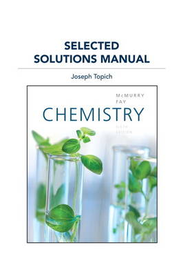 Selected Solutions Manual for Chemistry (Paperback)