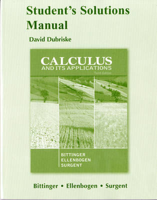 Student Solutions Manual for Calculus and Its Applications (Paperback)