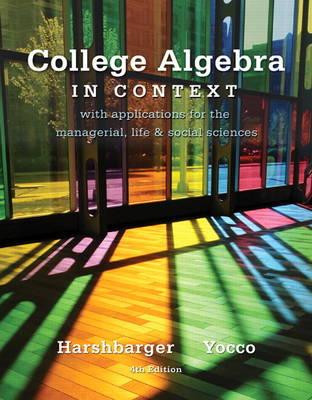 College Algebra in Context (Hardback)