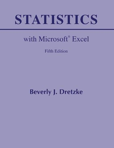 Statistics with Microsoft Excel (Paperback)