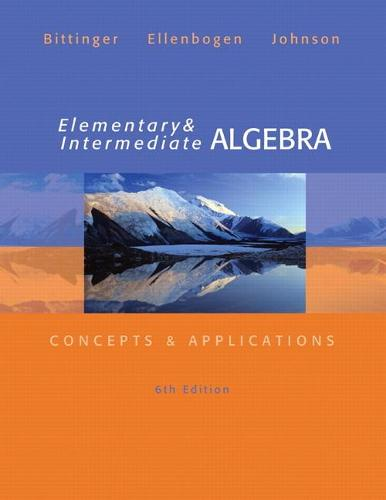 Elementary and Intermediate Algebra: Concepts and Applications: United States Edition (Hardback)