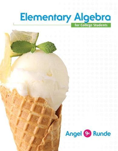 Elementary Algebra For College Students (Hardback)