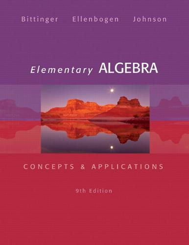 Elementary Algebra: Concepts & Applications (Hardback)