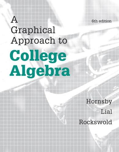 A Graphical Approach to College Algebra (Hardback)