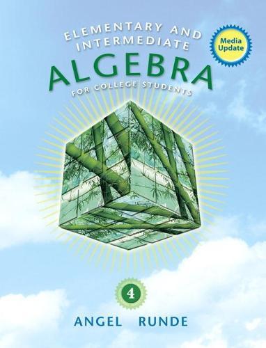Elementary & Intermediate Algebra for College Students, Media Update (Hardback)