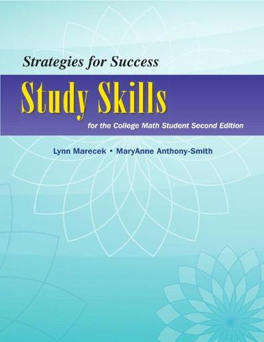 Strategies For Success: Study Skills for the College Math Student (Paperback)