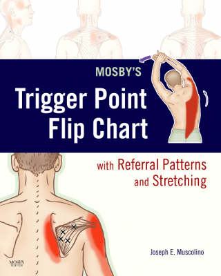 Mosby's Trigger Point Flip Chart with Referral Patterns and Stretching (Poster)