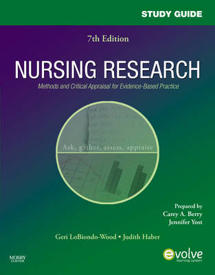 Study Guide for Nursing Research: Methods and Critical Appraisal for Evidence-Based Practice (Paperback)