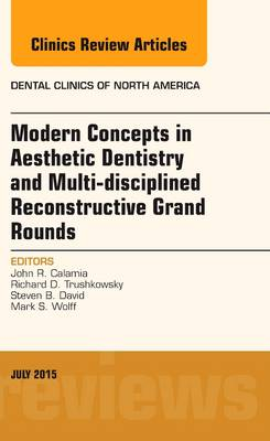 Modern Concepts in Aesthetic Dentistry and Multi-disciplined Reconstructive Grand Rounds, An Issue of Dental Clinics of North America - The Clinics: Dentistry 59-3 (Hardback)