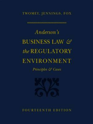 Anderson's Business Law and the Regulatory Environment (Hardback)