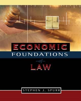 Economic Foundations of Law (Hardback)
