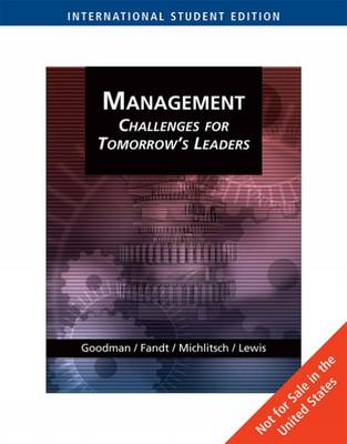 Management: Challenges for Tomorrow's Leaders (Paperback)