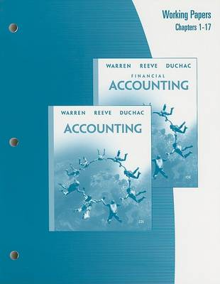 Accounting or Financial Accounting: Working Papers: Chapters 1-17 (Paperback)