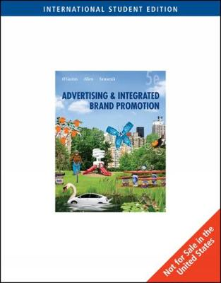 Advertising and Integrated Brand Promotion, International Edition (Paperback)