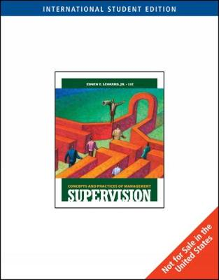 Supervision: Concepts and Practices of Management, International Edition (with Management Central Printed Access Card) (Paperback)