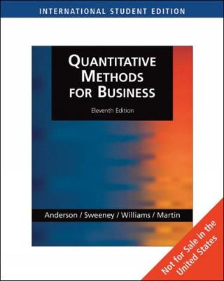 Quantitative Methods for Business, International Edition (with Student CD-ROM)