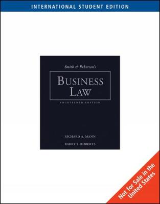 Smith and Roberson's Business Law, International Edition (Paperback)