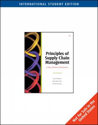 Principles of Supply Chain Management: With Infotrac and CD-Rom: A Balanced Approach, (with InfoTrac) and CD-ROM)