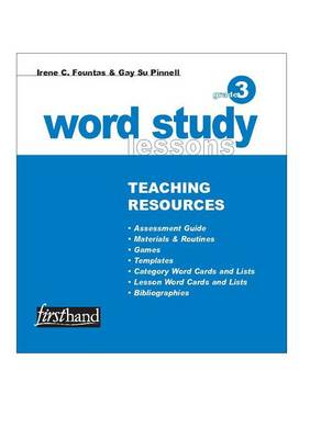 Word Study Lessons Teaching Resources: Grade 3