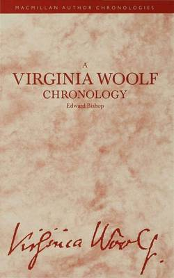 A Virginia Woolf Chronology - Author Chronologies Series (Hardback)